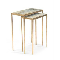 Austin A. James' Lustrous Sky Stacking Tables (Set of 2)