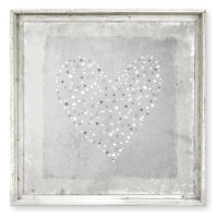 Star Sprinkled Wall Art, Grey