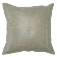 Leather Pike Gray Decorative Pillow (Set of 2) | from belleandjune.com | decorative pillows