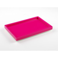 Hot Pink Vanity Tray from belleandjune.com | Bathroom Accessories