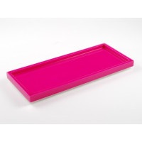 Hot Pink Long Vanity Tray from belleandjune.com | Bathroom Accessories