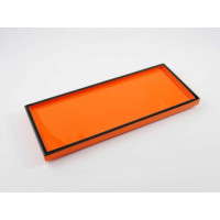 Orange with Black Trim Long Vanity Tray from belleandjune.com | Bathroom Accessories