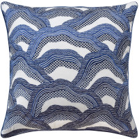 Buy Lez Riziere Royal Navy Decorative Pillow from belleandjune,com | Decorative Pillows