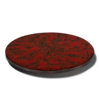 Mother of Pearl - Red Revolving Tray from belleandjune.com | tabletop