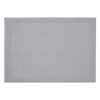 Paloma Silver Rectangular Placemats S/4 from belleandjune.com | tabletop