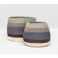Samal Storage Baskets - Blue Combo (Set of 2)