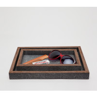 Manchester Cool Gray Tray Set