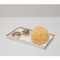 Rio Tray - White and Gold Set of 2