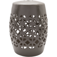 Ridgeway Gray Stool by Surya from belleandjune.com | Garden Stool