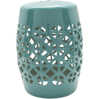 Ridgeway Emerald Green Stool by Surya from belleandjune.com | Garden Stools