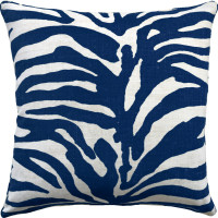 Buy Serengeti Blue and White Decorative Pillow online from belleandjune.com