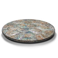 Mother of Pearl Natural Revolving Tray from belleandjune.com | tabletop