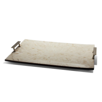 Light Almendro Large Rectangular Tray from belleandjune.com | tabletop