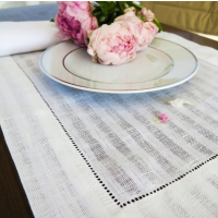 Greenwich White Placemats S/4 from belleandjune.com | tabletop