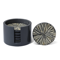 Gray Alamendro Coaster Set from belleandjune.com | Barware