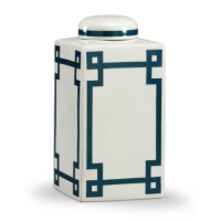 Grason White and Blue Vase from belleandjune.com | Vases and Temple Jars