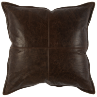Leather Parsons Cocoa Decorative Pillow (Set of 2) from belleandjune.com | decorative pillows