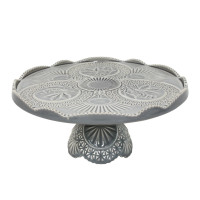 Costa Nova Cristal Grey Footed Plate from belleandjune.com | Tabletop