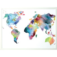 Watercolor Map Magnet Board