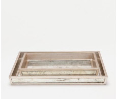 Atwater Nesting Trays - Silver Leaf (Set Of 2)