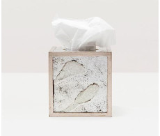 Atwater Tissue Box - Silver Leaf