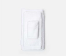 Geneva White Washcloth from belleandjune.com | Towels