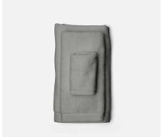 Geneva Gray Washcloth from belleandjune.com | Towels
