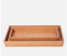 Lorient Aged Camel Tray Set (Set of 2)