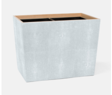 Manchester Cloud Gray Double Waste Basket Rectangular Tapered
