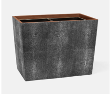 Manchester Cool Gray Double Waste Basket Rectangular Tapered