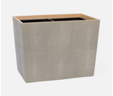 Manchester Sand Double Waste Basket Rectangular Tapered
