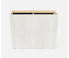 Manchester Snow Double Waste Basket Rectangular Tapered