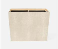Manchester Ivory Double Waste Basket Rectangular Tapered