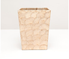 Andria Waste Basket Square - Smoked