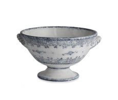 Arte Italica Burano Footed Bowl with Handles from belleandjune.com | Serving Bowl