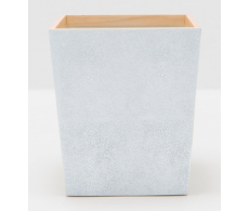 Manchester Cloud Gray Waste Basket Square Tapered