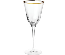 Vietri Optical Gold Wine Glass Set of 2