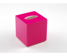 Hot Pink Tissue Box Cover from belleandjune.com | Bathroom Accessories