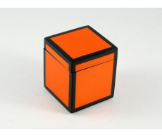 Orange with Black Trim canister from belleandjune.com | Bathroom Accessories