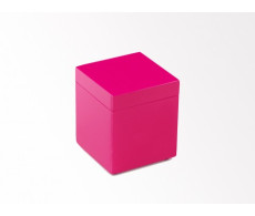 Hot Pink canister from belleandjune.com | Bathroom Accessories