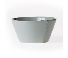 Vietri Lastra Gray Stacking Cereal Bowl from belleandjune.com | Tabletop