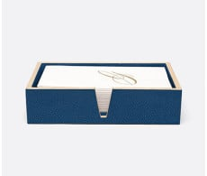 Manchester Navy Hand Towel Tray Set of 2