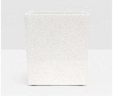 Callas Rectangular Wastebasket - White from belleandjune.com | bathroom accessories