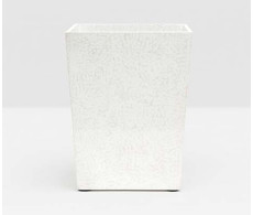 Callas Square Wastebasket - White from belleandjune.com | bathroom accessories