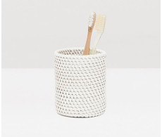 Dalton Brush Holder - White