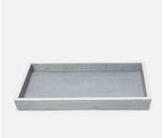 Maranello Steel Blue and White Large Vanity Tray from belleandjune.com | Bath Accents