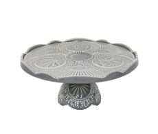 Cristal Grey Footed Plate from belleandjune.com | Tabletop