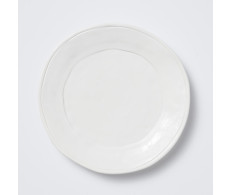 Buy Viva Fresh White Dinner Plate by belleandjune.com | Dinnerware