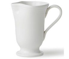 Buy Viva Fresh White Large Footed Pitcher by belleandjune.com | Dinnerware