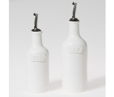 Buy Viva Fresh White Oil and Vinegar Set by belleandjune.com | Tabletop